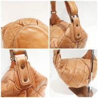Chanel Nude/ Light Tan Quilted Hobo Bag #A